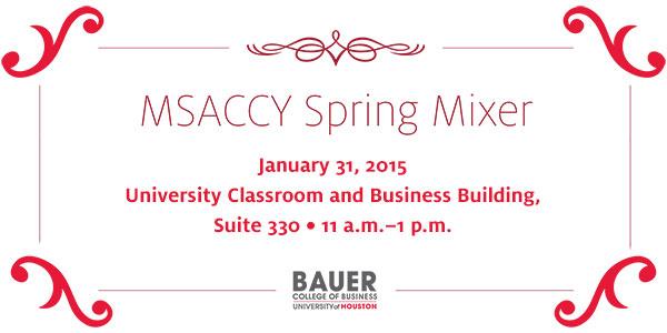 Mingle at the MSACCY Spring 2015Mixer, Saturday, Jan. 31, 2015