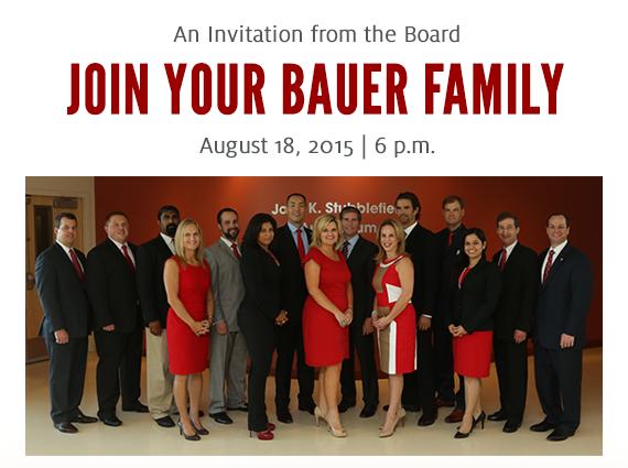 Bauer College Alumni Association 2015 Annual Meeting, August 18, 2015