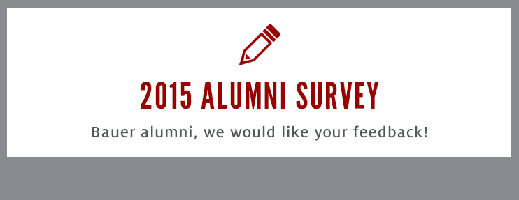 Bauer alumni, we would like your feedback!
