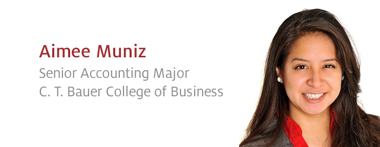 See How Our Senior Accounting Major Aimee Muniz Perfects the Language of Business!