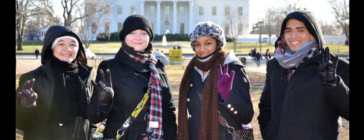 Bauer Honors student in Washington D.C.
