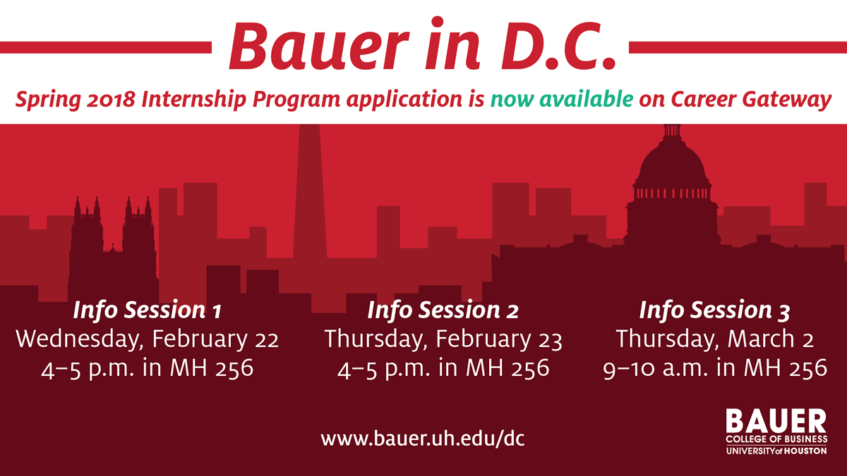 upcoming Bauer in DC events