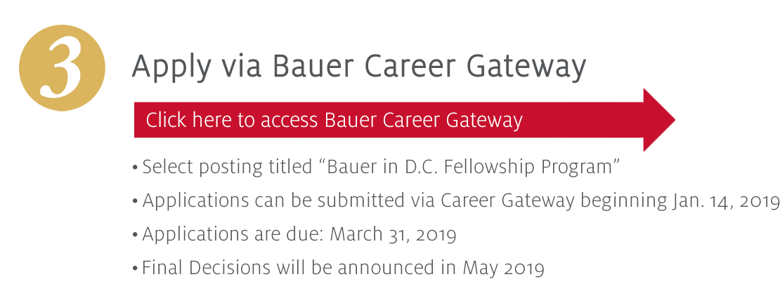 Apply Via Bauer Gateway System