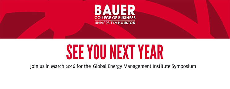Join us in March 2016 for the Global Energy Management Institute Symposium
