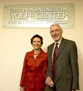 Cyvia and Melvyn Wolff