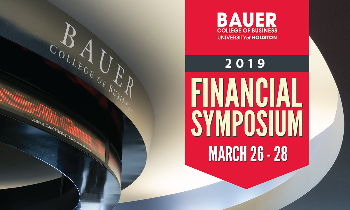 UH Bauer College Financial Symposium 2019