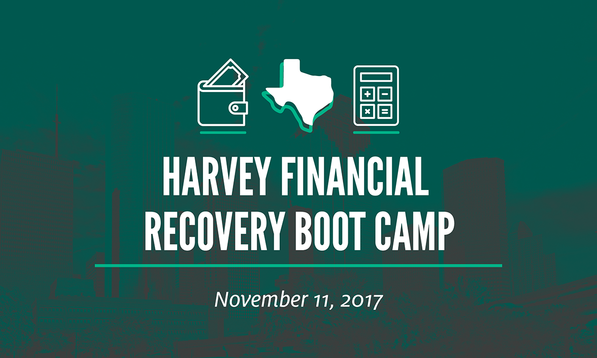 Harvey Financial Recovery Boot Camp