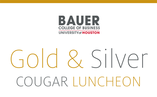 Bauer College of Business: Gold and Silver Cougar Luncheon, April 10, 2015