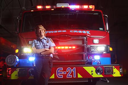Photo: Professor and Firefighter Elizabeth Anderson-Fletcher