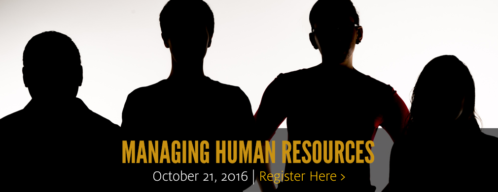 Managing Human Resources: October 21, 2016