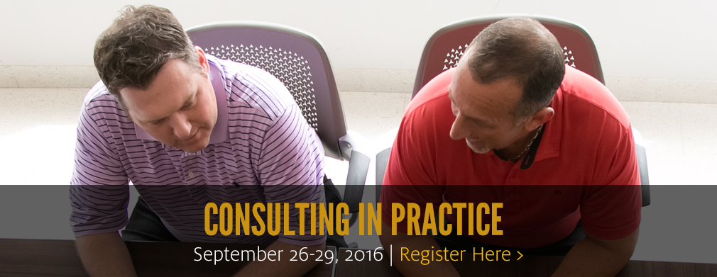 Consulting in Practice: September 26-29, 2016