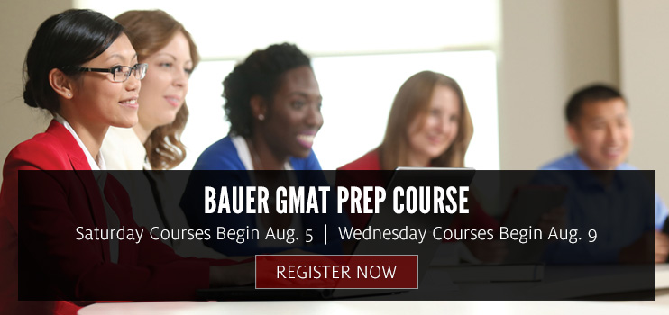 Register Now for GMAT Courses Starting August 2017