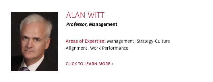 Alan Witt, Professor, Management and Psychology, C. T. Bauer College of Business at UH