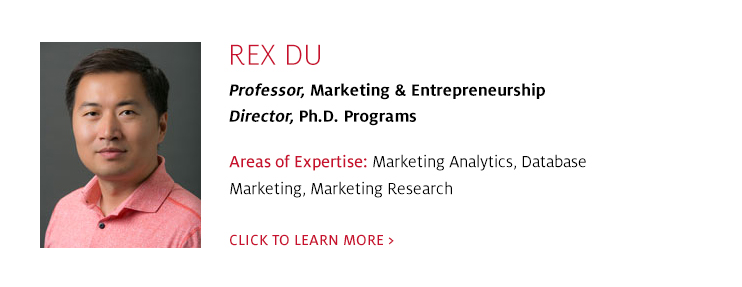 Rex Du, Professor, Marketing, C. T. Bauer College of Business at UH