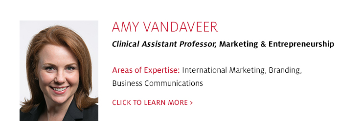 Amy Vandaveer, Clinical Assistant Professor, Marketing, C. T. Bauer College of Business at UH