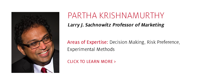 Partha Krishnamurthy, Professor, Marketing, C. T. Bauer College of Business at UH