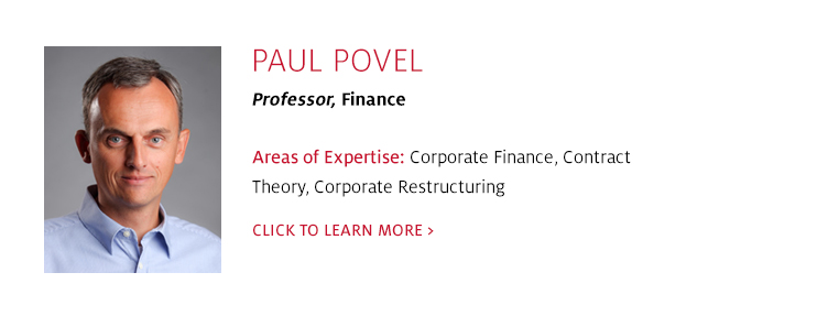 Paul Povel, Professor, Management, C. T. Bauer College of Business at UH