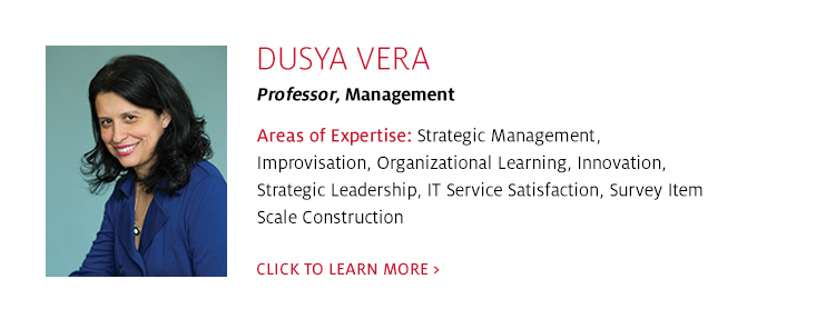 Dusya Vera, Professor of Management, C. T. Bauer College of Business at UH