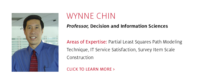Wynne Chin, Professor, Decision and Information Sciences, C. T. Bauer College of Business at UH