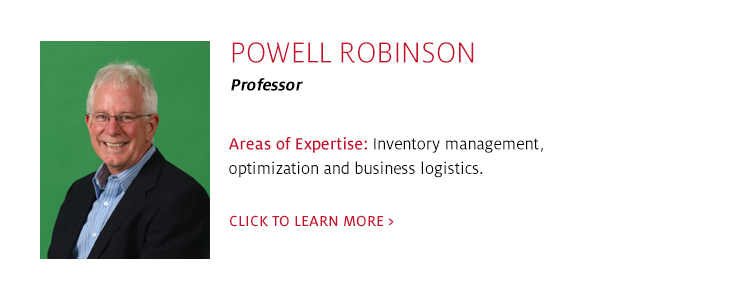 Powell Robinson, Professor, Supply Chain Management, C. T. Bauer College of Business at UH