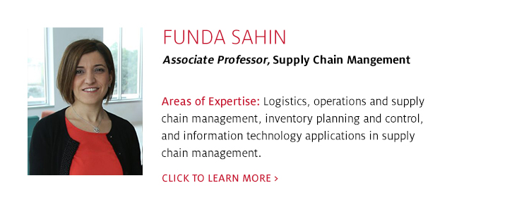 Funda Sahin, Associate Professor, Supply Chain Management, C. T. Bauer College of Business at UH