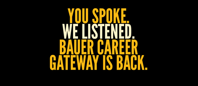 Bauer College Career Gateway
