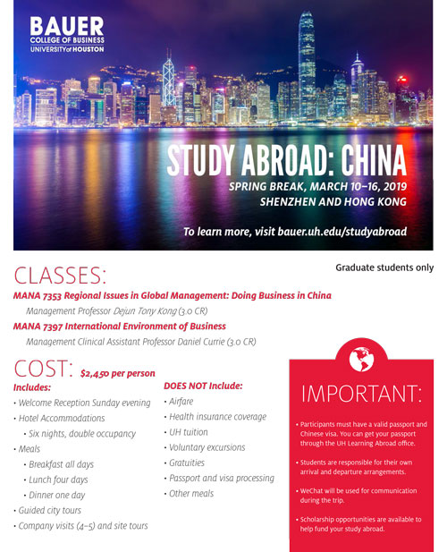 China: Sign Up - Study Abroad | Bauer College