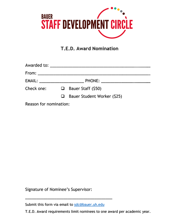 TED nomination form