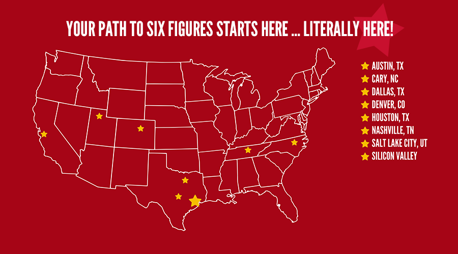 U.S. Map: Your Path to Six Figures Starts Here!